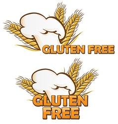 gluten free symbol set isolated on white vector image