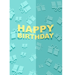 Happy Birthday card gift pattern vector image