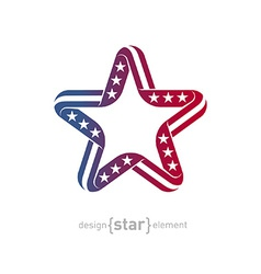 pseudo volume star with american flag symbols vector image vector image