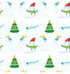 Seamless christmas design vector image vector image