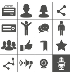 Social Networks Icons vector image vector image