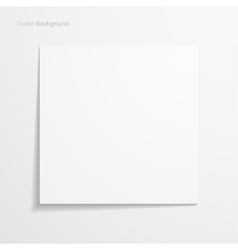 White sheet of paper vector image