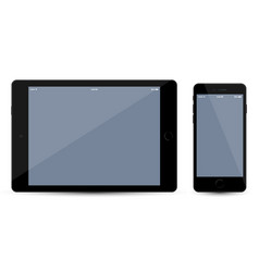tablet and mobile smartphone mockup vector image