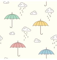 Umbrellas seamless background vector image vector image