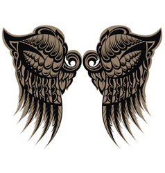 Winged tattoo vector image
