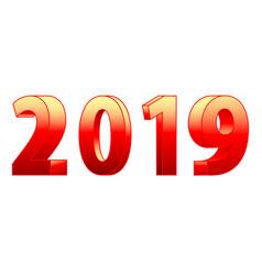 3d 2019 lettering vector image