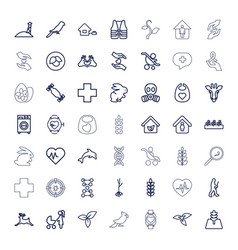 49 life icons vector