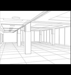 A modern interior room vector