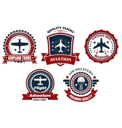 Aircraft and aviation banners vector image