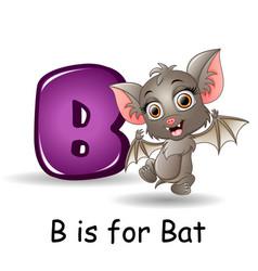 Animals alphabet b is for bats vector