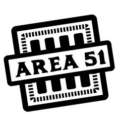 Area 51 stamp on white vector