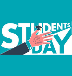 Banner on students day vector