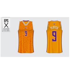 Basketball uniform template design vector