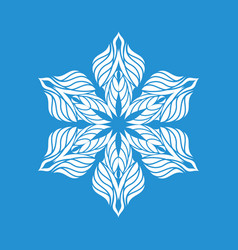Big snowflake icon simple style vector