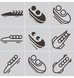 Bobsled icons vector image