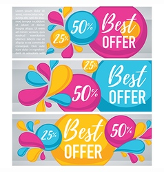 Bubble banners vector
