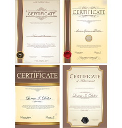 certificate template collection vector image