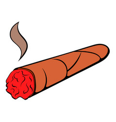 Cigar icon cartoon vector