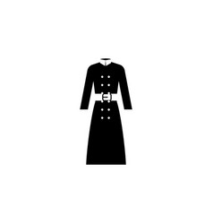 cloak icon on white background clothing or vector image