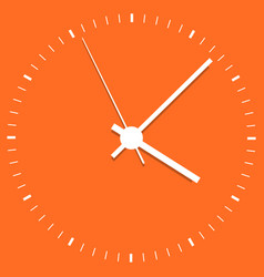 Clock icon office clock on orange background vector
