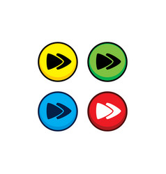 Color game asset menu icon button vector