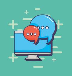 computer speech bubble communication message vector image