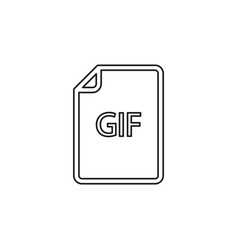 Download gif document icon - file format vector