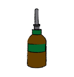 Dropper bottle medical health care vector