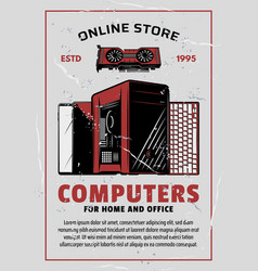 Electronics and computers online store vector