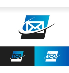 Envelope Swoosh Logo Icon vector image