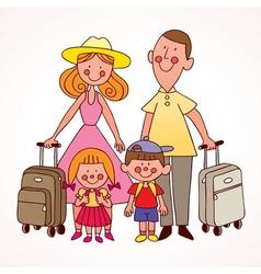 Family travel vector