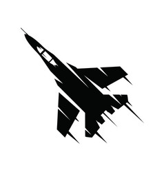 fighter jet flying on a white background military vector image