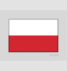 Flag of poland national ensign aspect ratio 2 to vector