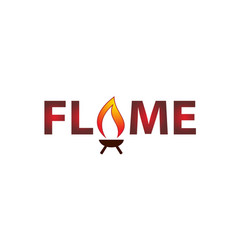 Flame logo design template vector