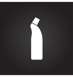 Flat cleaner bottle vector image