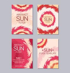 Flyer design sun theme vector