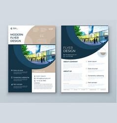 Flyer with minimal geometric design modern vector