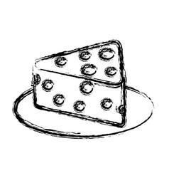 fresh cheese piece icon vector image