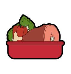 Ham leg icon image vector
