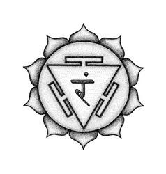 Hand drawn chakra manipura vector