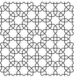 islamic pattern seamless geometric black vector image