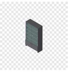 Isolated drawer isometric sideboard vector