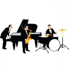Jazz orchestra vector
