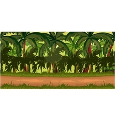 Jungles Game Background vector image