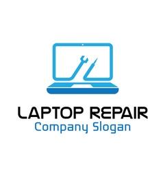Laptop Repair Design vector image