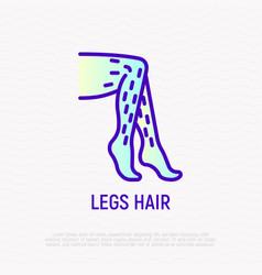 Legs hair thin line icon modern vector