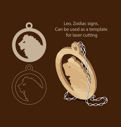 leo zodiac signs can be used as a template for vector image