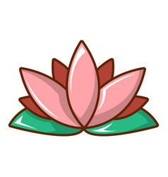 Lotus flower icon cartoon style vector