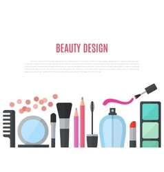 Make up concept flat with vector image