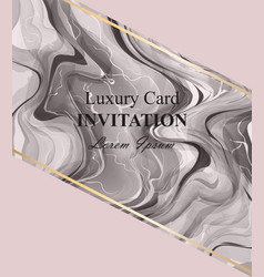 marble texture card beautiful stone vector image